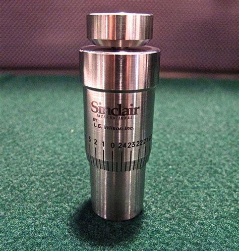 SINCLAIR INTERNATIONAL HAND DIE MICROMETER TOP Sinclair Intl