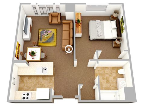 single bed apartment plans