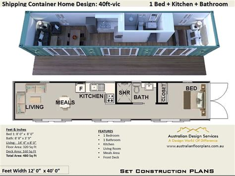 Single Shipping Container Home Floor Plans