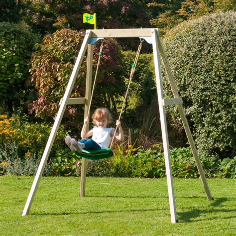 Single wooden swing ireland Image