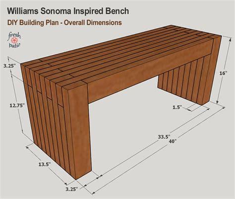 Sitting Bench Plans Free