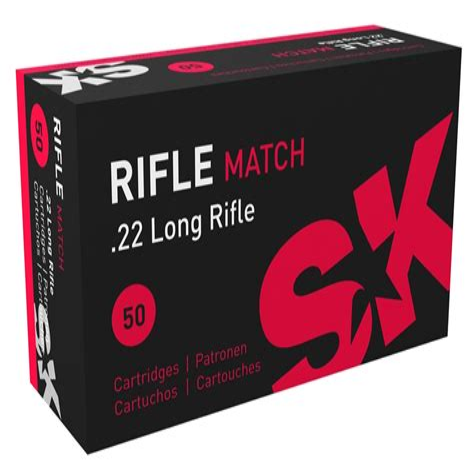 Sk Rifle Match 22 Long Rifle Ammo