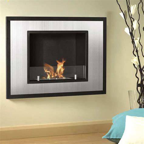 Skandar Ventless Wall Mounted Bio-Ethanol Fireplace