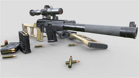 Sketchfab Sniper Rifle