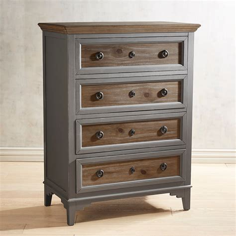 slate dresser with saddle wood