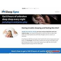Sleep sync get to sleep faster and stay asleep all night inexpensive