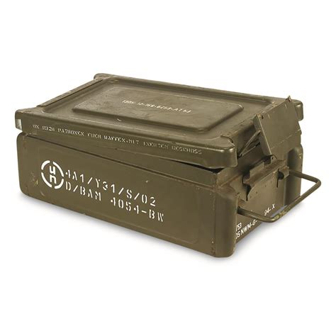Small Metal Ammo Cans