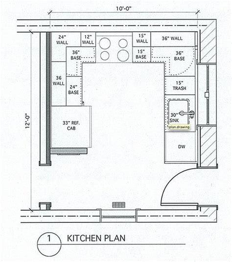 Small U Shaped Kitchen Floor Plans
