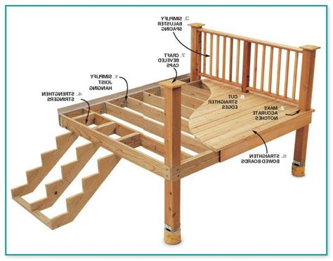Small deck plans free Image