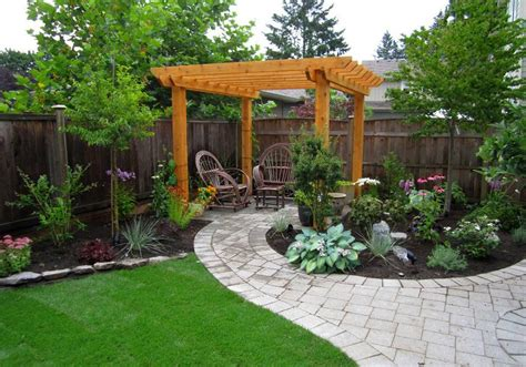 Small Garden Ideas With Pergola Image