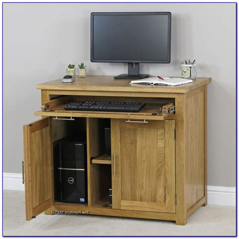 Small Hideaway Computer Desk Image
