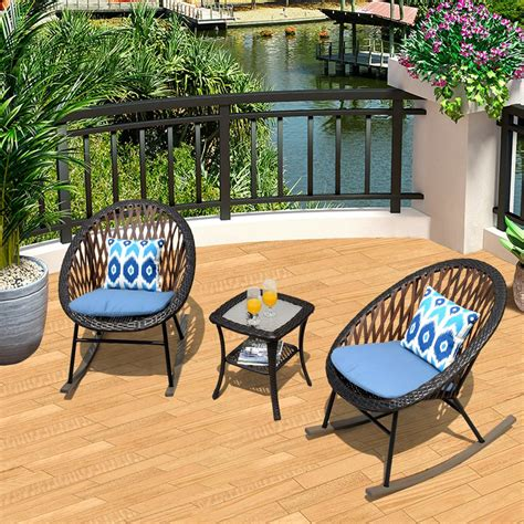 Small outdoor chairs and table Image