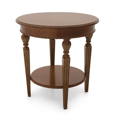 Small round wooden table Image