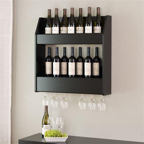 Small wall wine shelf Image
