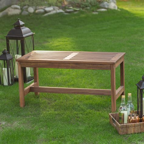 Small wooden bench for a porch or entryway Image