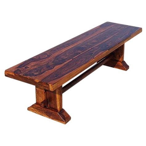 Small wooden bench indoor Image