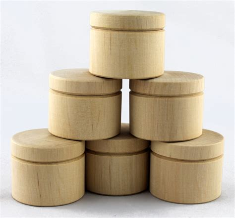 Small wooden craft boxes Image