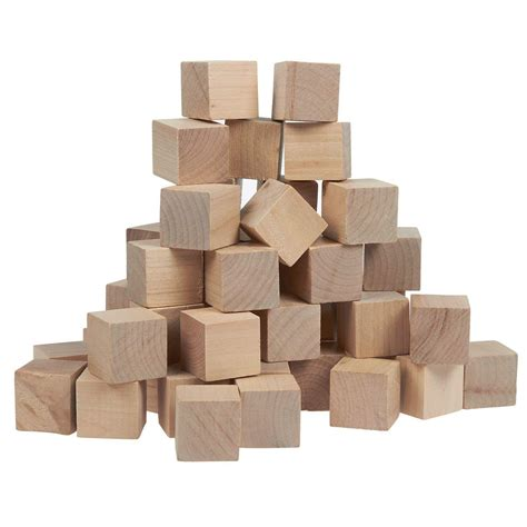 Small wooden cubes Image