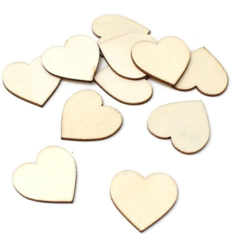 Small wooden hearts for crafts Image