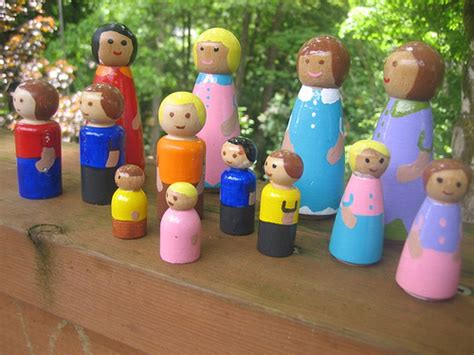 Small wooden people Image