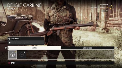 Sniper Elite 4 Rifle With Best Zoom