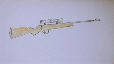 Sniper Rifle Drawing Images