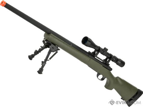 Snow Wolf Usmc M24 Airsoft Bolt Action Scout Sniper Rifle