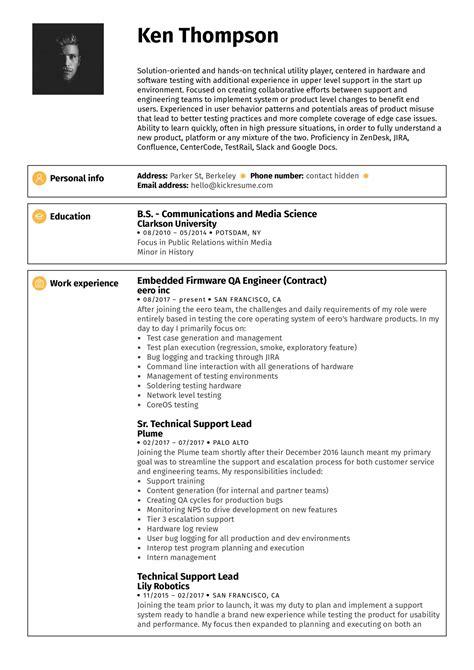 Sample Resume For An Entry Level Qa Software Tester