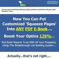 Software puts squeeze pages inside any pdf ebook 6% conversions secret