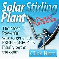 Solar stirling plant uses the sun to create free electricity compare