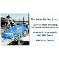 Solar stirling plant uses the sun to create free electricity secrets
