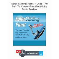 Solar stirling plant uses the sun to create free electricity coupons