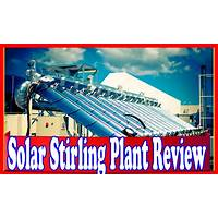 Cheapest solar stirling plant uses the sun to create free electricity