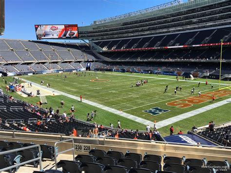 Soldier field seating chart media deck Image