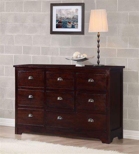 Solid wood triple dresser Image