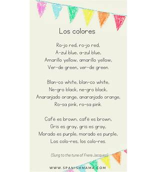 Song For Kids In Spanish