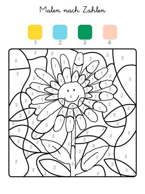 Sonnenblume Malen Nach Zahlen Malvorlage