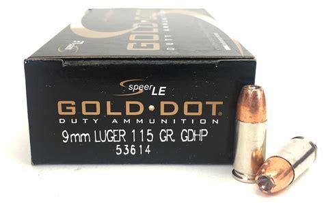 Speer Gold Dot 9mm 115 Gr Gel Test