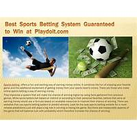 Sports betting system win win sports betting finally here !!! tips