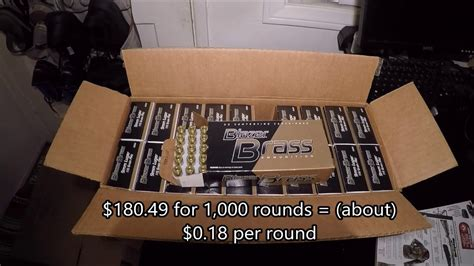 Sportsman S Guide Ammo Haul From 09 30 2017 My Cheapest Case Of 9mm 115gr Brass