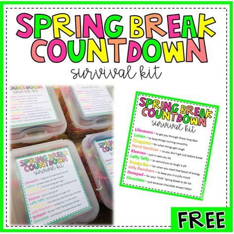 Spring Break Survival Kit For Teachers