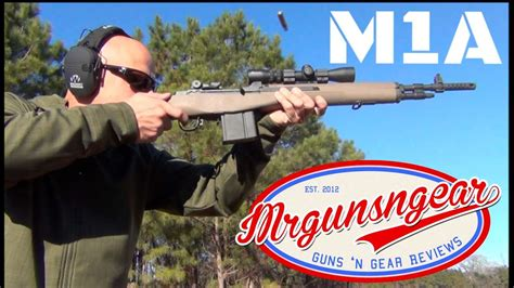 Springfield Armory M1a Scout Squad 308 Rifle Burris 27x Scout Scope Review Hd