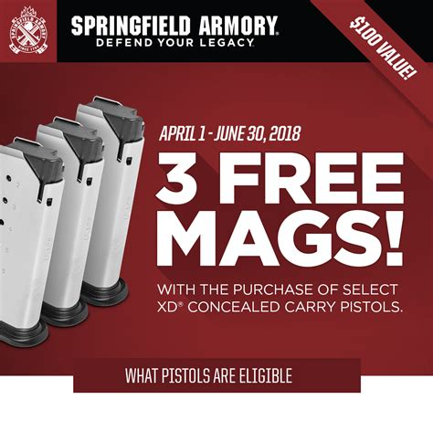 Springfield Armory Upcoming Promotions April 2018