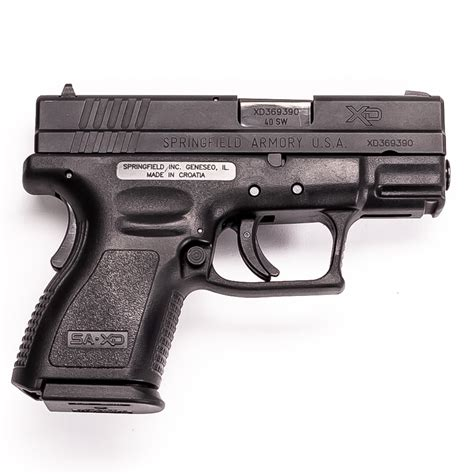 Springfield Armory Xd 40 Subcompact Silencer And Springfield Armory Xd Subcompact 3 For Sale