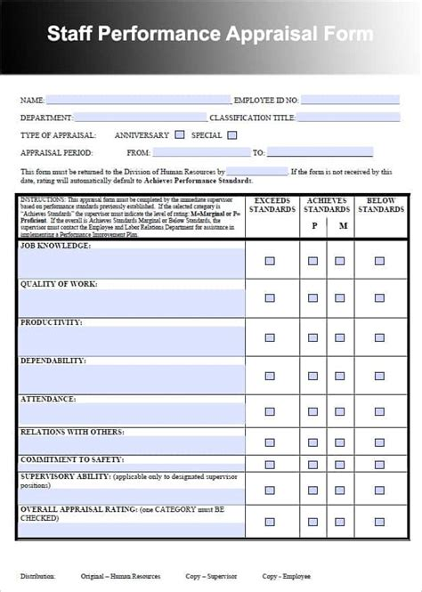 Staff Appraisal Templates CV Templates Download Free CV Templates [optimizareseo.online]