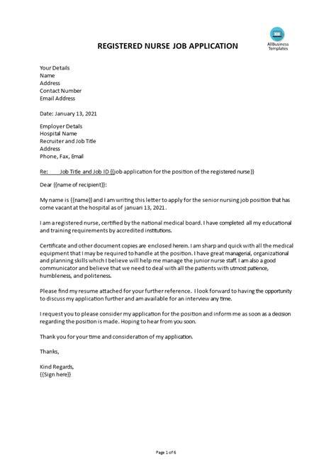 Staff Nurse Cover Letter Resume | Letter Of Intent For ...
