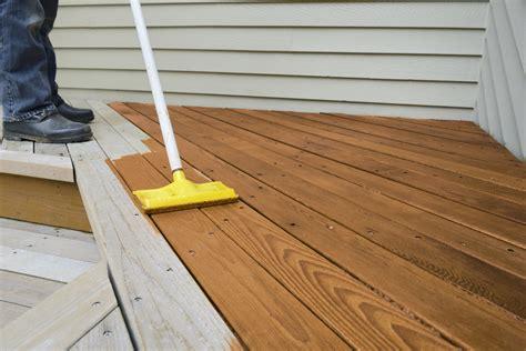 Staining decking timber Image