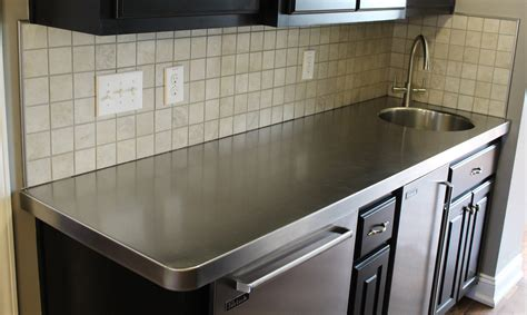 Stainless steel kitchen countertops Image