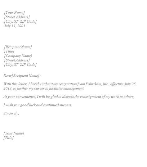 Standard Resignation Letter Format Uk   Sample For Resume ...