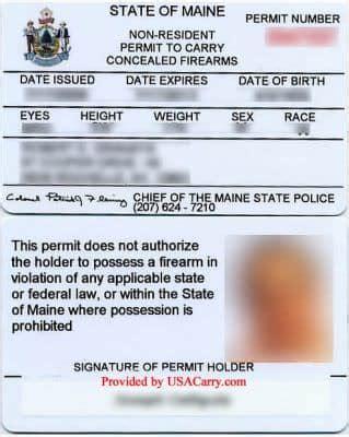 State Of Maine Online Concealed Handgun License